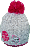 Minnesota Vikings Breast Cancer Awareness Womens Fleece Pom Toque