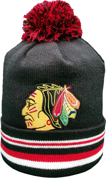 Chicago Blackhawks Mitchell & Ness Pom Knit Toque