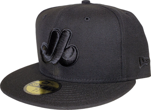 Montreal Expos Black on Black New Era 59Fifty Fitted