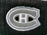 Montreal Canadiens Mitchell & Ness Black and White Reflective Logo NHL Toque