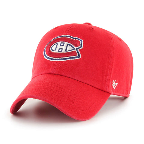 Montreal Canadiens Clean Up Cap Red