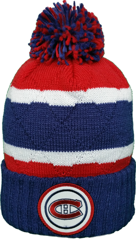 Montreal Canadiens Mitchell & Ness High Five Navy Cuff NHL Pom Toque