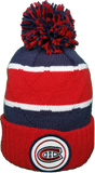 Montreal Canadiens Mitchell & Ness High Five Red Cuff NHL Pom Toque