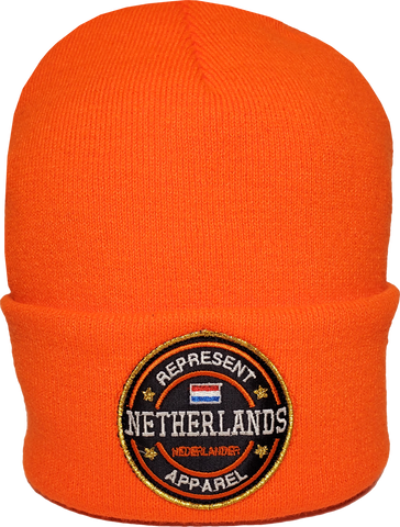 Netherlands Toque Benchmark Rib Knit Orange