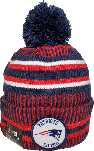 New England Patriots Knit Pom Toque NFL Sideline