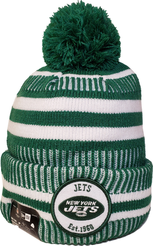 New York Jets Knit Pom Toque NFL Sideline