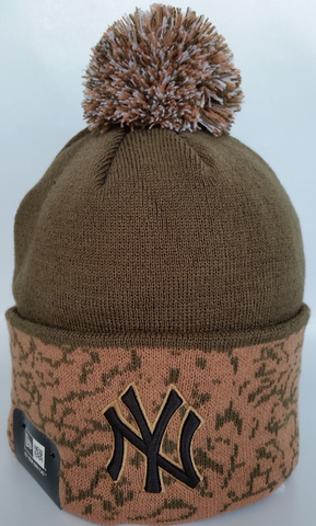 New York Yankees Cuffed Chaos Beige Toque
