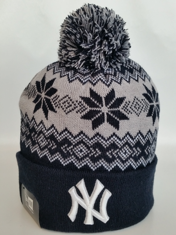 New York Yankees Snowflake Pom Toque