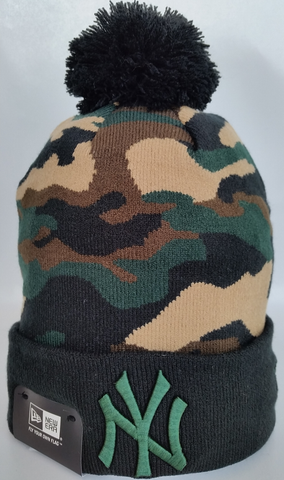 New York Yankees Woodland Camo Pom Toque