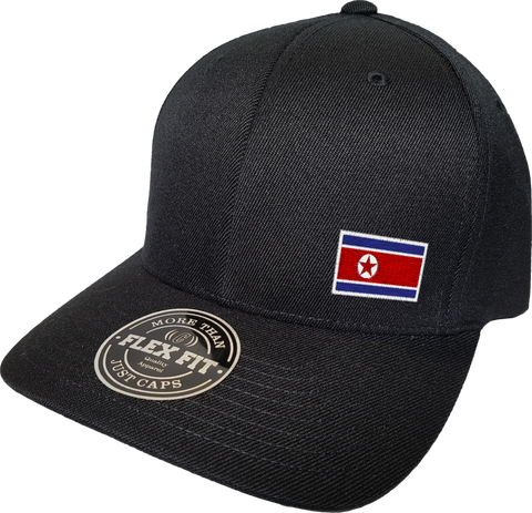 North Korea Cap Flex Fit FLS Black