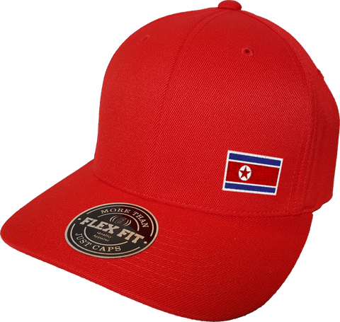North Korea Cap Flex Fit FLS Red