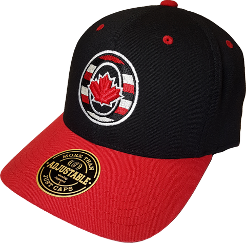 O-Canada Represent Black and Red Adjustable Cap