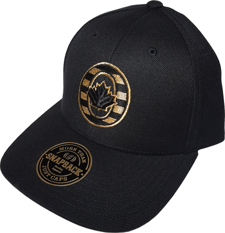 O-Canada Black & Metallic Gold Adjustable Snap