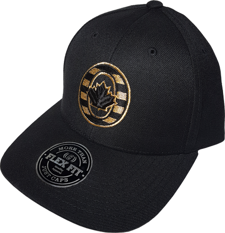 O-Canada Black & Metallic Gold Flex Fit