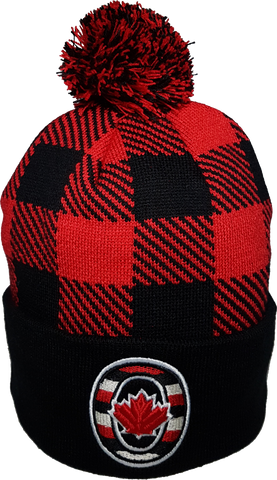 O-Canada Plaid Pom Toque