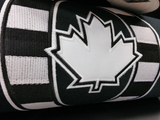 O Canada Black and White 15oz Cotton Hoodie