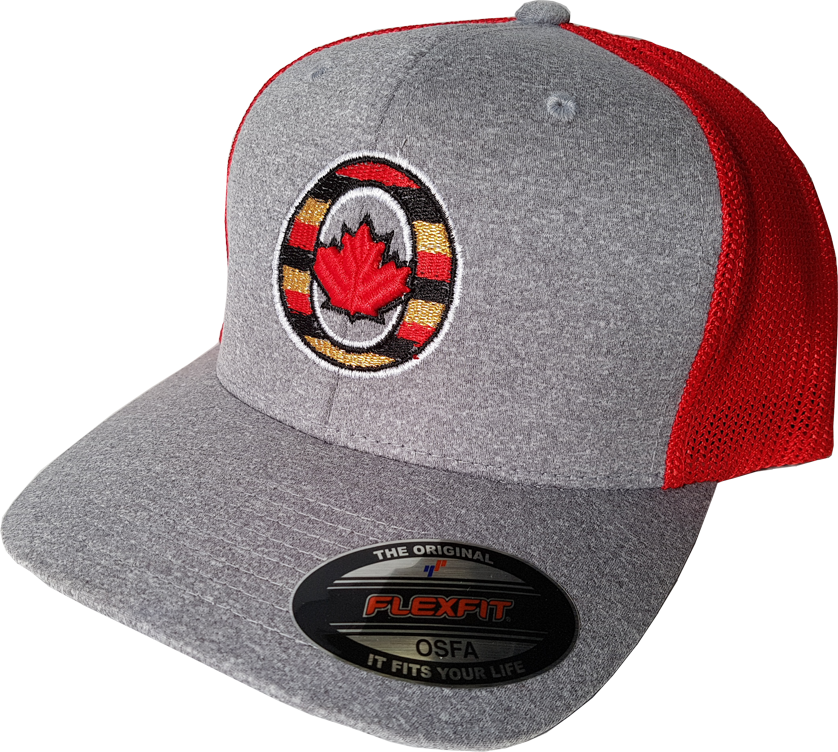 742e44cc6c30a O-Canada Melange Mesh Grey Red Flex Fit – More Than Just Caps Clubhouse