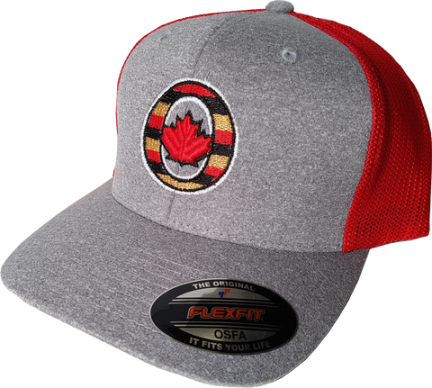 Ottawa Cap O Canada Melange Mesh Grey Red Flex Fit