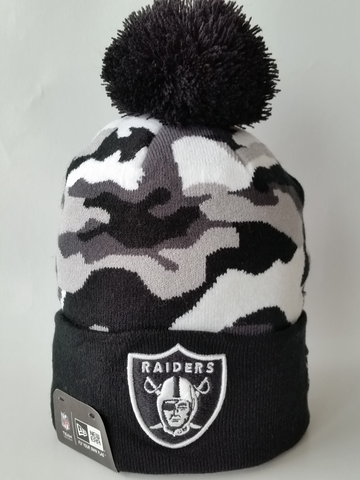 Oakland Raiders Urban Camo Pom Toque