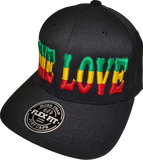One Love Black Flex Fit Cap
