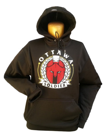 Ottawa Soldier Black 17 oz Cotton Hoodie