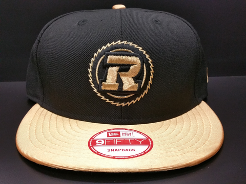 Ottawa Redblacks Snapback Custom Exclusive Black and Gold Brim