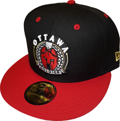 Ottawa Soldier New Era Fitted Black Red