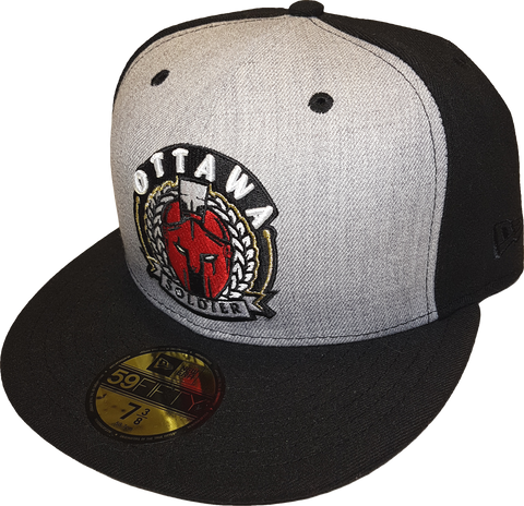 Ottawa Soldier New Era Fitted Heather Grey Front