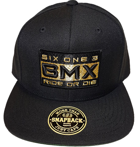 Six One 3 BMX Ride Or Die Snapback Black