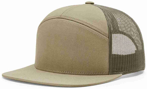 Richardson 7 Panel High Crown Trucker Cap Pale Khaki Loden