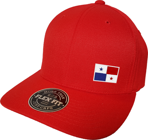 Panama Cap Flex Fit FLS Red