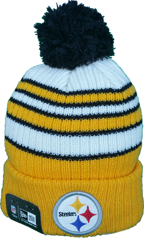 Pittsburgh Steelers Traditional Stripe Pom Toque