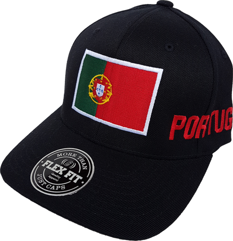 Portugal Big Flag Cap Flex Fit Black