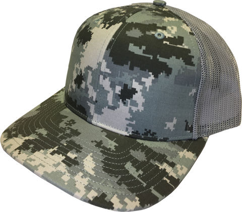 Blank Printed Trucker Military-Light Green
