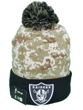 Oakland Raiders Salute to Service Sideline Fleece Pom Toque