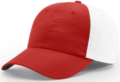 Richardson Relaxed Lite Performance Cap Red White