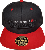 Represent Six One 3 Snapback Black-Red