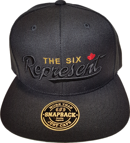 Represent The Six Snapback Black