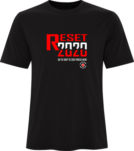 Reset 2020 Printed T-Shirt Black Red