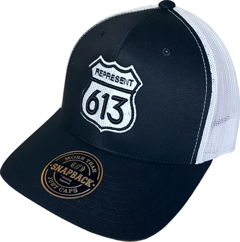 Route 613 Black White Trucker