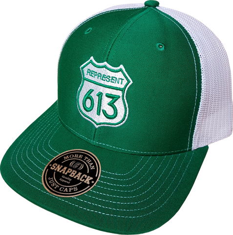 Route 613 Meshback Trucker Green White