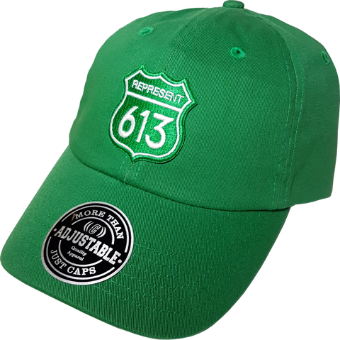 Route 613 Patch Dad Hat Green