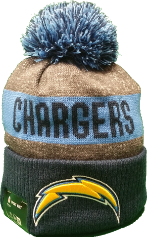 San Diego Chargers 2016-2017 Sideline Knit Pom Toque