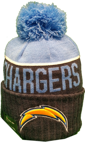 San Diego Chargers Sideline Knit Pom Toque