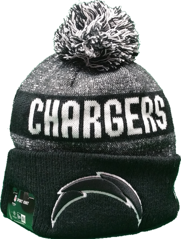 San Diego Chargers Black 2016-2017 Sideline Knit Pom Toque