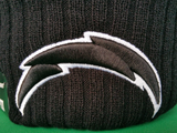 San Diego Chargers Fleece Lined Black Pom Toque