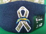 San Diego Chargers Salute to Service Sideline Fleece Pom Toque