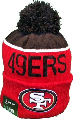 San Francisco 49ers Sideline Knit Pom Toque