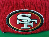 San Francisco 49ers Traditional Stripe Pom Toque