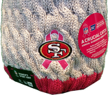 San Francisco 49ers Breast Cancer Awareness Womens Fleece Pom Toque